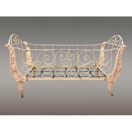 Napoleon III Painted Cast Iron Crib